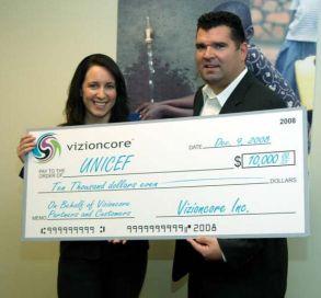vizioncore donates to unicef